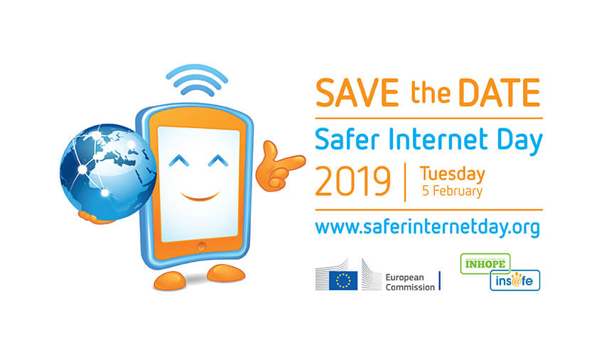 #SaferInternetDay2019 Logo, Save the Date!